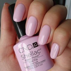 Shellac cake pop a perfect pale pink ... And more wedding nail ideas