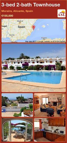 3-bed 2-bath Townhouse in Moraira, Alicante, Spain ►€155,000 #PropertyForSaleInSpain