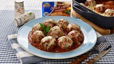 Chiftele la cuptor cu mozzarella - reteta video Romanian Food, Romanian Recipes, Pots, Quesadilla, Detox Tea, Diabetic Recipes, Mozzarella, Cooking, Ethnic Recipes