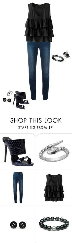 """""""Slytherin {Darkness}"""" by sarah-natalie ❤ liked on Polyvore featuring Giuseppe Zanotti, Blu Bijoux, Giorgio Armani, Topshop, harrypotter, slytherin and darkness"""
