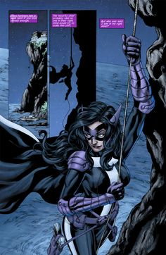 Huntress from Huntress #6 art by Marcus To / John Dell © DC 2012