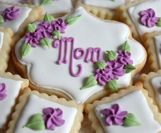 Happy Mothers Day! #melissagracedesserts #dessert #cookies #cookieart #mothersday #mom #happymothersday #pretty #yummy #purple #flowers Happy Mothers Day, Purple Flowers, Cookies, Mom, Pretty, Instagram Posts, Desserts, Crack Crackers, Tailgate Desserts