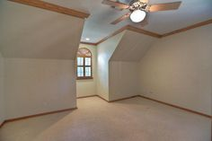 Game room or 2nd master bedroom 19x17 with plantation shutters covering window and alcove - Dormer skylight best choice ...
