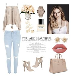 """your beautiful"" by susanazizumbo on Polyvore featuring Sans Souci, River Island, Yves Saint Laurent, HUBLOT, Jimmy Choo, Creative Displays, Marc Jacobs, Topshop and Lime Crime"