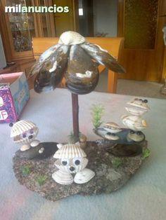 Imagen relacionada Seashell Painting, Seashell Art, Seashell Crafts, Beach Crafts, Shell Animals, Seashell Projects, Shell Ornaments, Shell Beach, Sea Art