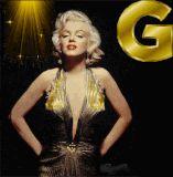 Marilyn Monroe letter G alphabet gif animated