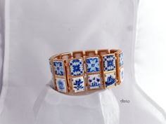 Portugal Lisbon Antique 24 Azulejo Tile Replica BRACELET by Atrio