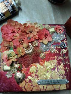 decorated box, mixed media