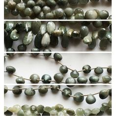 Due to popular demand and the trend of the season we at gemsforjewels bring you the complete range in high quality cats eye in all rondelle and briolette shapes- u name it and we have it! Drops, pears, hearts, onions, rondelles, round balls! Check us out!