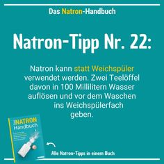 77 Natron-Anwendungen: Haushalt, Schönheit, Gesundheit & mehr Soda tip 22 – the white powder is an ingenious alternative to fabric softener free save Cleaning Day, House Cleaning Tips, Cleaning Hacks, Health Benefits, Health Tips, Fat Burning Drinks, Antibacterial Soap, Diet And Nutrition, Clean House