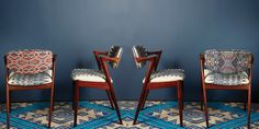 Artisan Dining Chairs   Ethnic Textile Design   A Rum Fellow