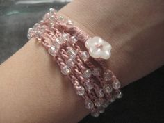 My Sweet Valentine  Hippie Chic Beaded Wrap by KnittedFiddle, $20.00