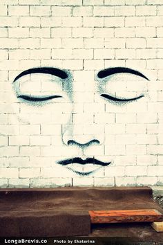 Face mural wall painting in New Zelalnd. Christchurch Graffiti & Street Art | LongaBrevis - Art is Magic! #mural #wallart #streetart