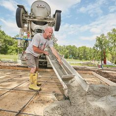 We'll take the mystery out of ordering concrete from a ready-mix company and explain everything you need to know, including concrete prices. Concrete Cost, Concrete Garages, Mix Concrete, Concrete Forms, Stained Concrete, Concrete Prices, Smooth Concrete, Concrete Pad, Concrete Walkway