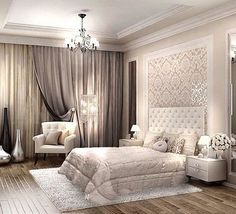 Master bedroom design ideas - You must understand what for you to do by using a room before you begin any design work. The climate of the room can range from calm and artistic to subdued and traditional. Luxury Bedroom Design, Master Bedroom Design, Dream Bedroom, Home Bedroom, Home Interior Design, Bedroom Decor, Master Room, Bedroom Ideas, Bedroom Headboards