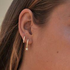 No Piercing Black Conch Ear Jacket Celtic Clover/fake faux piercing/shamrocks klee/cartilage ear cuff/ear wires manchette/ohrklemme ohrclip - Custom Jewelry Ideas Double Ear Piercings, Ear Peircings, Cute Ear Piercings, Feather Earrings, Cute Earrings, Crystal Earrings, Diamond Earrings, Diamond Jewelry, Star Earrings