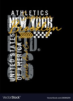 New york typography design united states style vector image on VectorStock Typography Design, Logo Design, Lettering, Nour, Kids Clothes Boys, Types Of Shirts, Printed Shirts, Shirt Print, T Shirt