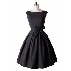 LANLAN Red Black Audrey Hepburn Style 50s rockabilly Dress 2016 New Summer Dress Sleeveless Bow Sash Women Vintage Retro Dresses