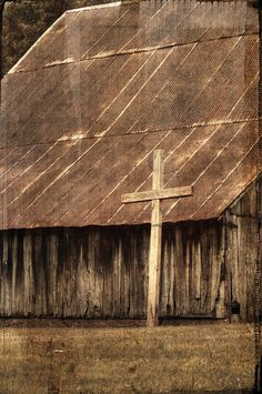 Cross and an Old Barn #provestra