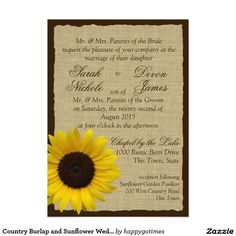 Country Burlap and Sunflower Wedding