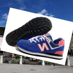 best website e4127 ccb7e New Balance 574 Yacht Club Womens trainers Blue-Orange-White HOT SALE! HOT