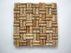 A Wine Cork Message Board or Trivet - love this without a frame.