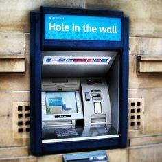 Hole ~ In the wall... #photoadayaug #ATM #holeinthewall #barclays #uk #yorkshire #harrogate - @din0u- #webstagram