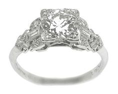 Edwardian 1.01ct Diamond Platinum Engagement Ring