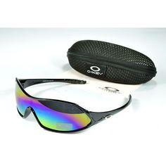 Oakley Women'S Sunglasses Blue-Pink-Yellow Iridium Black Frames-20619