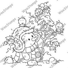 Miss Frosty from Wee Stamps Christmas Paper, Christmas Colors, Christmas Crafts, Whimsy Stamps, Digi Stamps, Colouring Pics, Coloring Books, Diy Xmas, Snowman