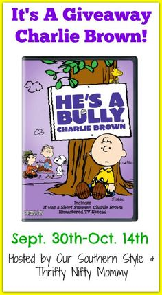 """Highlighting October as anti-bullying month, the Peanuts are taking on the issue of Bullying in this heartwarming DVD, """"He's A Bully Charlie Brown""""!"""