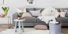 For north-facing rooms, pick a warm grey with hints of pink, yellow or orange.