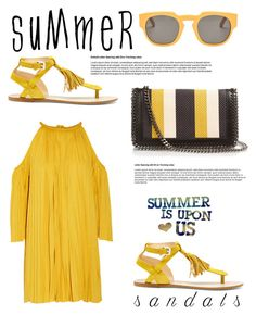 """The Cutest Summer Sandals"" by southindianmakeup1990 ❤ liked on Polyvore featuring Sole Society, Rachel Zoe, STELLA McCARTNEY and Marni"