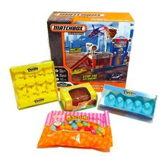 Boys Easter Basket Matchbox Police Adventure Easter Bundle - Includes 5 Items - One #Play Set, Chocolate Peanut Butter Filled Egg, Jelly Beans, Plus Two Packs Peeps #Happy #Easter #Basket #Fillers #Boys #HappyEaster