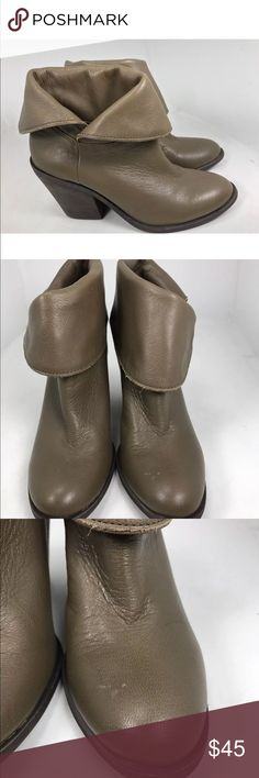 Lucky brand ethann Brown Fold Ankle Boots 6.5 These are preowned and have some wear, marks, and scratches. Please see all photos. Lucky Brand Shoes Ankle Boots & Booties
