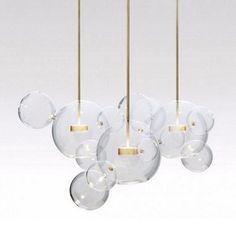 Clear Glass Ball living Futuristic Chandeliers Art Deco Pendant Lamp at Lifeix Design Gothic Chandelier, Art Deco Chandelier, Chandelier In Living Room, Modern Chandelier, Sputnik Chandelier, Multi Light Pendant, Led Pendant Lights, Glass Pendant Light, Pendant Lamps