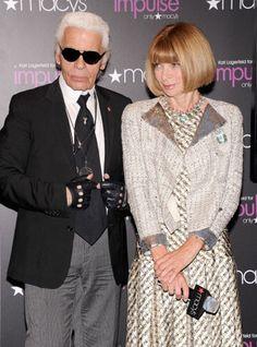 Karl Lagerfeld & Anna Wintour.