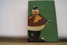 Snowman chalkboard holiday décor. Hand painted Christmas snowman chalkboard. Vintage schoolroom chalkboard in the green we all remember so well.