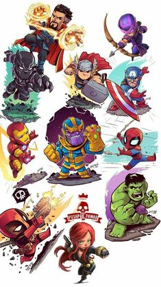 Avengers infinity ♾ art marvel, vingadores y marvel super he Chibi Marvel, Marvel Art, Marvel Cartoons, Marvel Memes, Avengers Comics, Avengers Cartoon, Avengers Art, Marvel Drawings, Cartoon Drawings