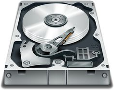 Hard Disk by @ilnanny, hard disk icon, on @openclipart