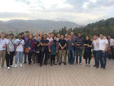 Iran: Group photo with the IAESTE trainees and volunteers of Iran. Our student Konstantinos had a great time over there :)