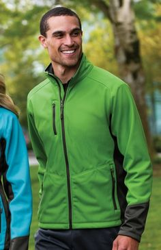 J319 Vertical Soft Shell Jacket