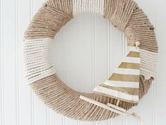 DIY Nautical Rope Wreath