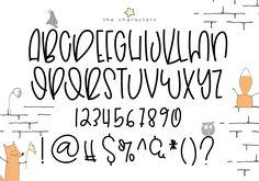 Fonts Alphabet Discover Hoptrot - A Cute Handwritten Font Hoptrot - A Cute Handwritten Font example image 9 Handwriting Alphabet, Hand Lettering Alphabet, Doodle Lettering, Creative Lettering, Lettering Styles, Brush Lettering, Cute Handwriting Fonts, Cute Fonts Alphabet, Doodle Fonts