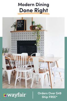 Get inspired by Bohemian Dining Room Design photo by Wayfair lets you find the designer products in the photo and get ideas from thousands of other Bohemian Dining Room Design photos. Dining Room Paint Colors, Dining Room Design, Dining Rooms, Room Colors, My Living Room, Living Room Decor, Fireplace Surrounds, Home And Deco, Kitchen Flooring