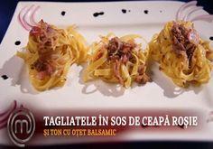 Reteta Linda Gusberti: Linguine cu ceapa si ton, in sos de otet balsamic - Foodstory.stirileprotv.ro