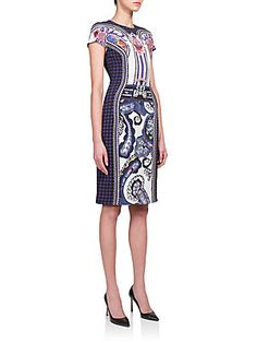 Mary Katrantzou Murray Digital-Print Silk Sheath