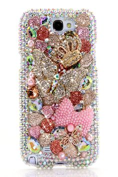 Samsung Galaxy Note 2 bling case Diamond Diva Design phone cover accessories online shops for girls