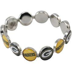 Green Bay Packers Enamel Charm Beaded Bracelet