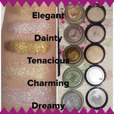 These cream shadows last all day and give your eyes some sparkle. Get yours at www.katheysmakeupshakeup.com.